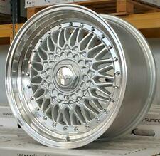 4X Llantas 8x16 4x100-108 et25 GODO RS Plata Pulido Labio Ford Ka Mk2 stilo dare