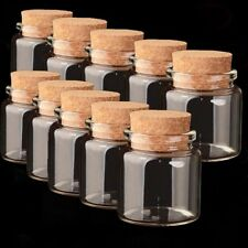 1Pcs 50ml Clear Glass Bottles Small Empty With Cork Lid Transparent Vial