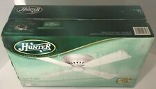 "NEW 42"" Hunter 20816 White Low Profile Indoor Dual Direction Ceiling Fan"