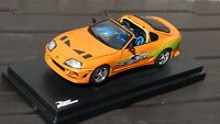 Ertl 1:18 1995 Fast and Furious Toyota Supra Paul Walker Dominic Racing Toy Car