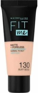 Maybelline Fit Me Matte +Poreless Foundation Normal to Oily with Clay-30ml