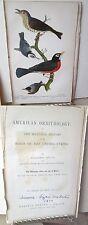 Vintage Print,WOOD THRUSH.Birds of US,1879,Lizars