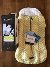 New In Box Petunia Pickle Bottom Stroller Bunting Sunshine Gold Pattern Infant