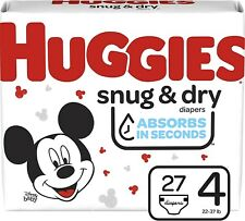 New Huggies Snug & Dry Size 4 Disposable Diapers - 54 Count (2x27count pkg)