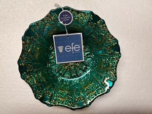Efe Handmade Turkish Decorative Glass Bowl With Silver
