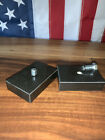 """Beer Tap Handle Base Display Stand w/Bolt, Genuine Black Marble Size 2"""" x 3"""""""