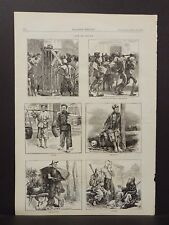 Harper's Weekly 1 Pg Sketches of Life in China 1873 B14#74
