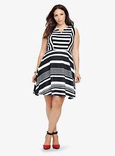 Torrid Striped Skater Dress, Size 1 BNWT