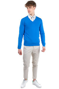 RRP €120 GIOFERRARI Jumper Size 48 / M Thin Knit Long Sleeve Made in Italy