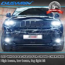For Jeep Grand Cherokee 2014-2018 Combo 8x 4Side 6000K LED Headlight + Fog Bulbs