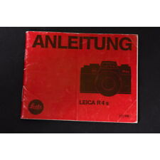 Leitz Leica R4s Instructions/Instructions for Use/Manual