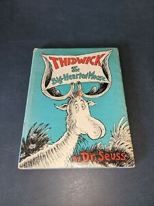 Dr Seuss Signed Thidwick the Big-Hearted Moose 1st Edition HCDJ 1948 With COA