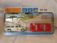 1978 Matchbox 900 2Packs Mercury Fire Chief Mercedes Ambulance Die-Cast TP-10 B