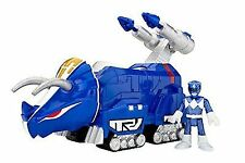 Fisher- Imaginext Power Rangers Blue Ranger and Triceratops