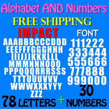 LETTERS and NUMBERS PACK IMPACT FONT  3/4