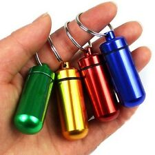 Portable Small Aluminum Waterproof Pill Bottle Cache Drug Container KeychainjbG