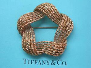 Tiffany & Co 18Kt Vintage Circular Yellow Gold Pin / Brooch 25.6 Grams