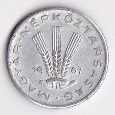 Hungary 20 Filler Aluminium Coin - 1967 MUST L@@K !!