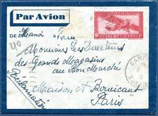 Lettre entier postal colonie Française indochine de Hanoi à Paris