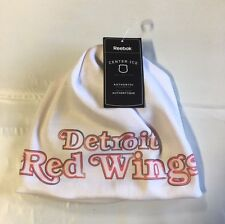 Detroit Red Wings Knit Beanie Toque Winter Hat Skull Cap NHL White fleece lining
