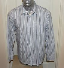 FAT FACE CLASSIC LONG SLEEVE LIGHTWEIGHT COTTON SHIRT , MANS L , BLUE STRIPED