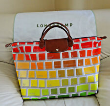 NWT Longchamp Jeremy Scott Le Pliage Keyboard Pattern Limited Travel Bag Duffel