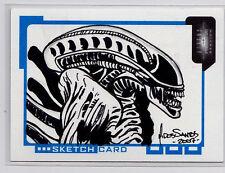 AVP Alien vs Predator Requium 2007 Inkworks Sketch Card by Mark Dos Santos /294