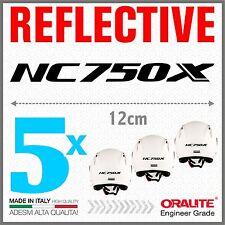 5x Rifrangenti ADESIVI Neri compatibile con NC 750 S HONDA moto casco NC750