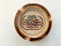Vintage Ceramic Brown Rim GRAND CANYON National Park Brown Cigarette Ashtray