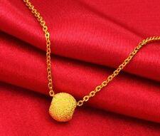 ONSALE 999 Pure 24k Yellow Gold Bead Luck Scrub Bead All-match 5mmW Bead 0.35g