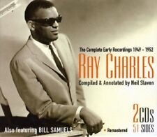 RAY CHARLES - RAY CHARLES-THE COMPLETE EARLY RECORDINGS 1949-52 2 CD NEUF