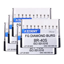 Dental 5Box diamantate BR-40S SUPER Palla Forma per l'alta velocità manipolo azdent