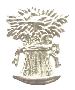 Bushel of Wheat Emblem Orange Lodge Order Nickel Plated for Collarette Sash