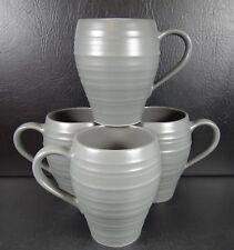 Mikasa Swirl Graphite Set of 4 Mugs