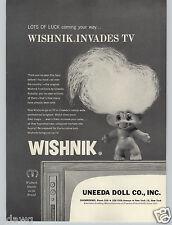 1965 PAPER AD Uneeda Doll Co Wishnik Troll Dolls TV