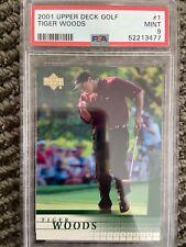 New listing 2001 Upper Deck Golf Tiger Woods #1 PSA 9 MINT