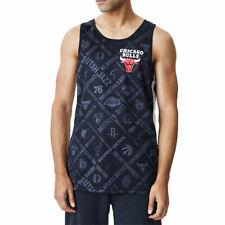 Camiseta Tirantes (Tank Top) Nba Chicago Bulls Aop New Era Negro Hombre