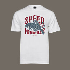 T-Shirt Motorcycle Speed Shop   Bobber Chopper Biker Kustom Motor Hot Rod Helm