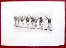 Eau-forte originale, Peloton de punition (9e cuirassiers), Lançon, Cadart, XIXe