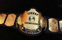 WWF 4mm Winged Eagle Heavyweight Wrestling Championship Adult Metal Replica Belt