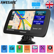 "Awesafe 9"" Vehicle GPS Navigation for Lorry Car SAT NAV FREE EU MAPS UK Shipment"