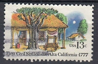 USA Briefmarke gestempelt 13c First Civil Settlement Alta California / 409