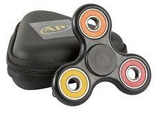 Fidget Spinner Rainbow Case Toy Black Plastic - Orange, Red, Yellow Colors