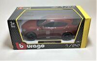New BBURAGO Red Alfa Romeo Stelvio 1/24 1:24 Scale Die Cast Car Model Burago