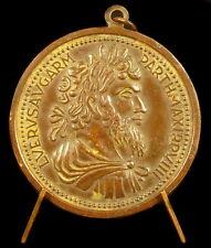 Médaille romaine Rome, Lucius Verus Sestertius refrappe c 1850 Roma Roman medal