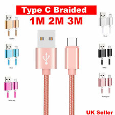 Strong Braided Heavy Duty USB C 3.1 Type-C Data Sync Charger Charging Cable UK