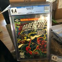 Daredevil #168, NM 9.4 CGC, 1st Appearance Elektra; Frank Miller Art