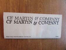 1991 C.F. Martin Guitars Original Catalog! Excellent Condition!