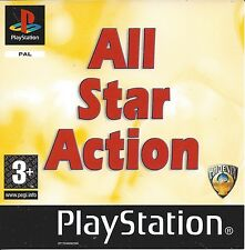 ALL STAR ACTION for Playstation 1 PS1 - with box & manual - PAL