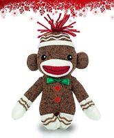 Plushland Sock Monkey Baby Plush Stuffed Animals Kids Toys Gifts Brown 6 Inch